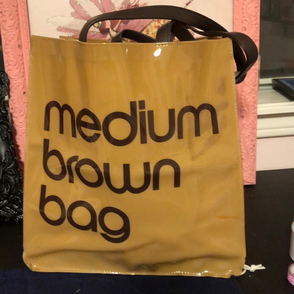 7a9189299c88 Bags | Bloomingdales Plastic Medium Brown Bag Shopper | Poshmark